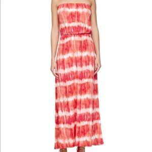 Joie Soft Angletta Strapless Tie-Dye Maxi Dress